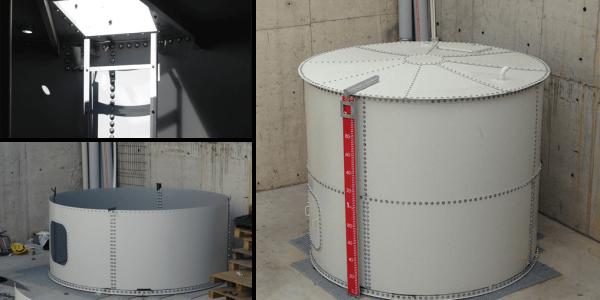 Silindirik Modüler Su Tankı